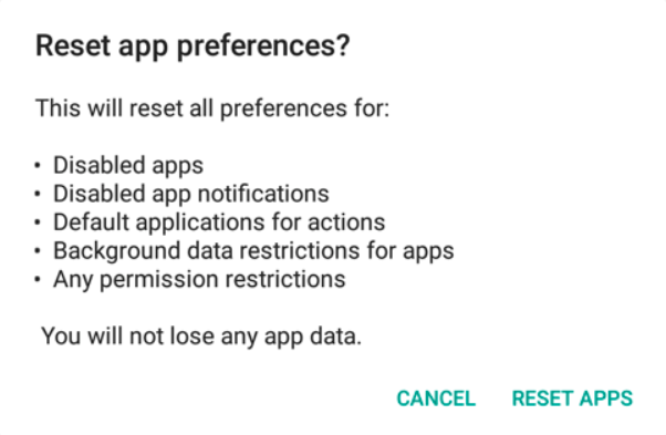 Reset App Preferences ACMarket